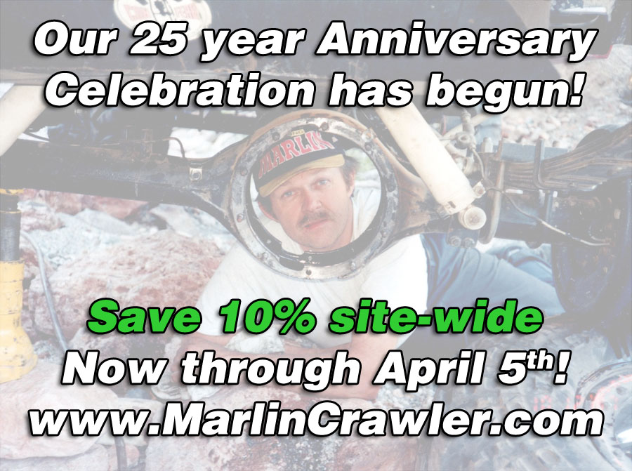 Marlin Crawler's 25 year Anniversary Celebration!