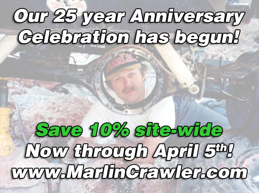 Marlin Crawler's 25 year Anniversary Celebration!