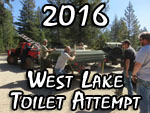 2016 West Lake Toilet Install Attempt
