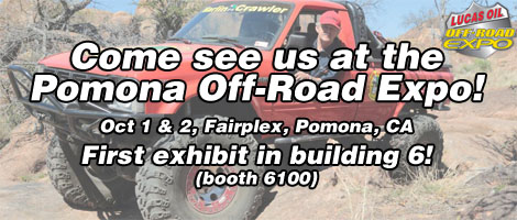 For the first time ever we will have a booth at the Off-Road Expo, Oct 1-2. Come see us at Booth #6100! <a href='https://www.facebook.com/events/161648664284765/'>Event details</a>