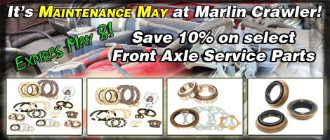 Welcome to Maintenance May at Marlin Crawler!