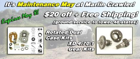 It's Maintenance May time at Marlin Crawler!