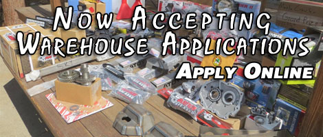 Now Accepting Warehouse Applications Online