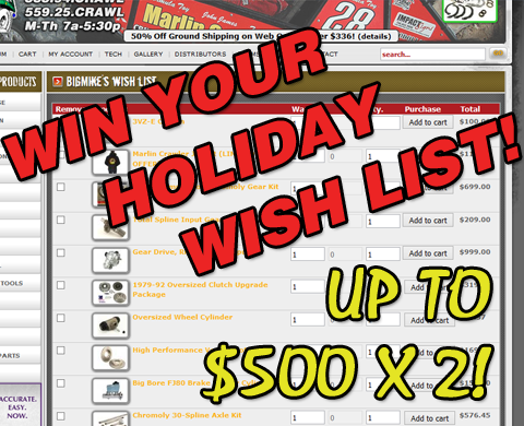 One week Wish List Give-A-Way Dash! [CONTEST HAS ENDED!]