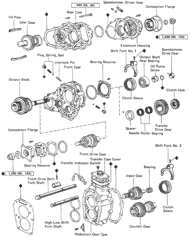 1994 land cruiser front drive diagram