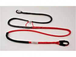 Sample 3/8in Freedom Optimized Winch Rope showing all features