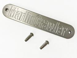 Bare Billet Aluminum Marlin Crawler Nameplate